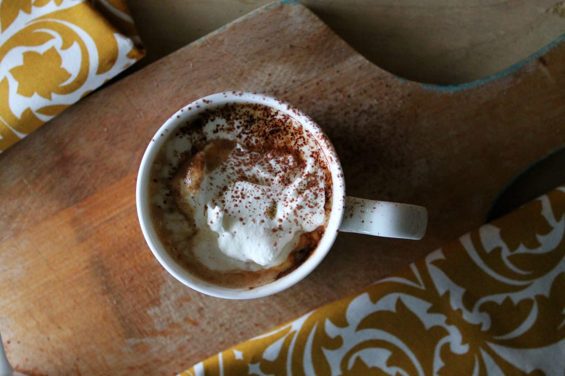 Two-ingredient soy milk hot chocolate